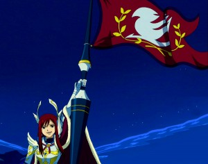 Erza_and_Farewell_Flag